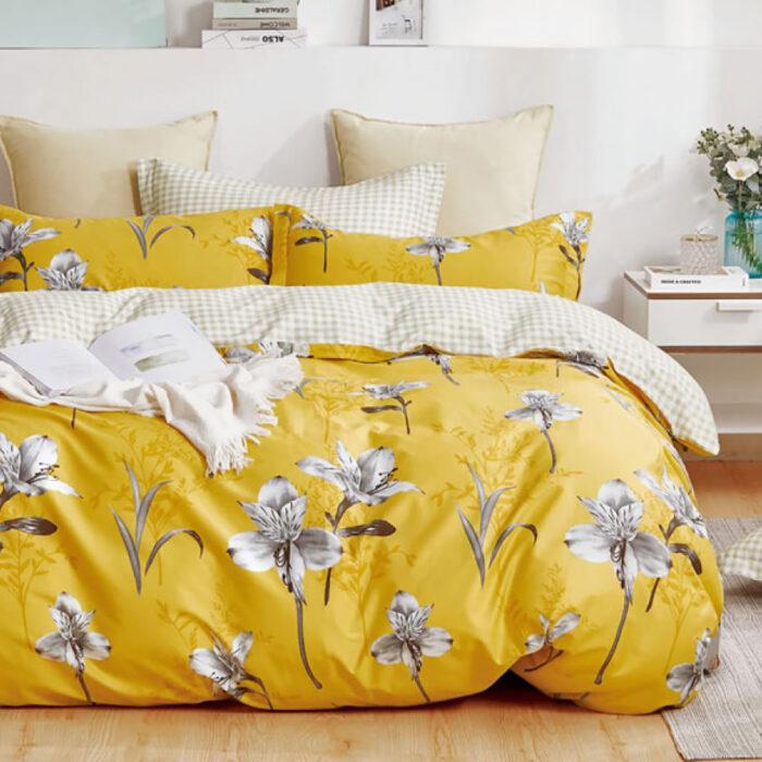 Indra Quilt Cover Set 100% Cotton 250TC @ Bed Linen Online