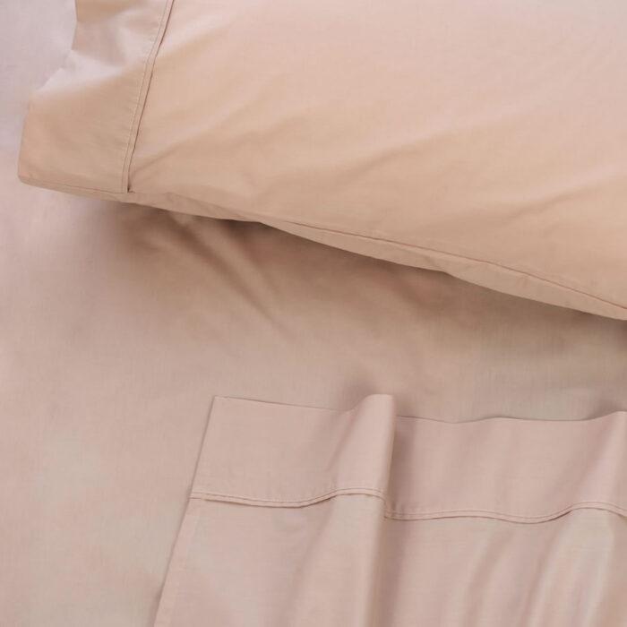 Bed Sheet Set 300TC 100% Cotton Algotron Blush @ BedLinenOnline.com.au