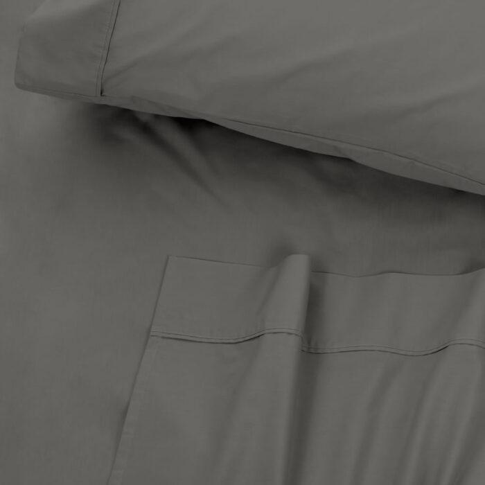 Bed Sheet Set 300TC 100% Cotton Algotron Charcoal @ BedLinenOnline.com.au