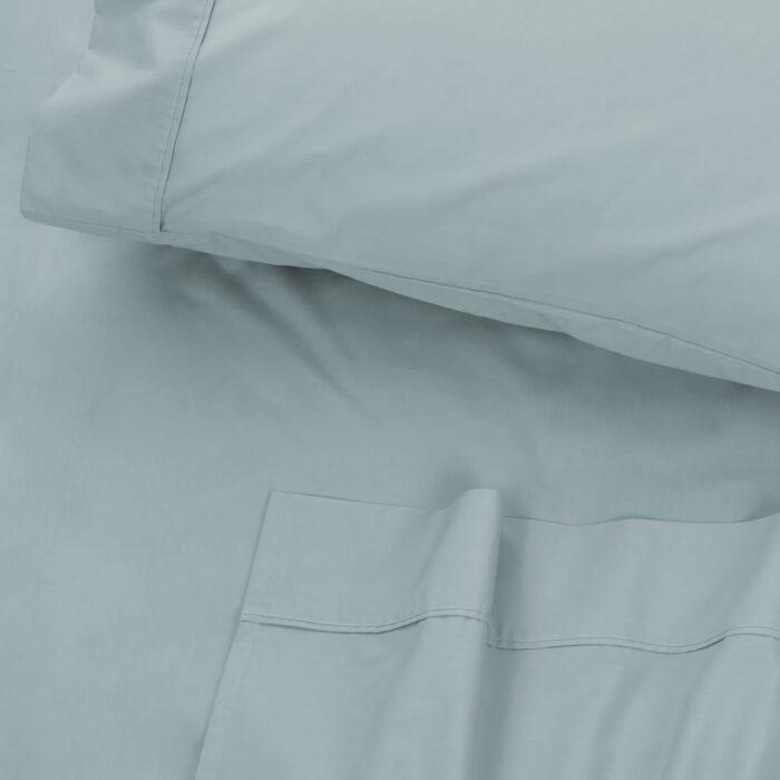 Bed Sheet Set 300TC 100% Cotton Algotron Faded Denim @ BedLinenOnline.com.au