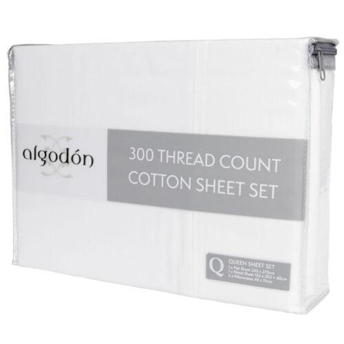 Bed Sheet Set 300TC 100% Cotton Algotron Pack @ BedLinenOnline.com.au