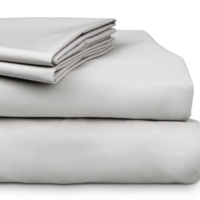 Bed Sheet Set 300TC 100% Cotton Algotron Silver @ BedLinenOnline.com.au